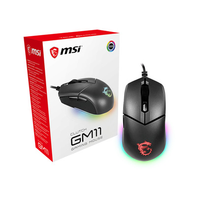 MSI Clutch GM11 Computermuis - Zwart