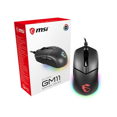 MSI Clutch GM11 Computermuis - Zwart