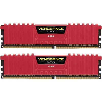 Corsair Vengeance LPX DDR4 3200MHz 16GB RAM-geheugen - Rood
