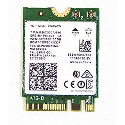 Intel Dual Band Wireless-AC 8265, 2230, 2x2 AC + BT, vPro Netwerkkaart - Groen