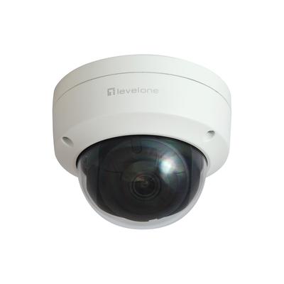 "LevelOne 2MP, 1/2.8"" CMOS, F2.0, 30 m IR LED, MicroSDHC/MicroSDXC, RJ-45, DC-in, 410 g Beveiligingscamera - Wit"