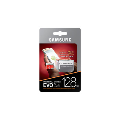 Samsung MB-MC128G Flashgeheugen - Rood, Wit