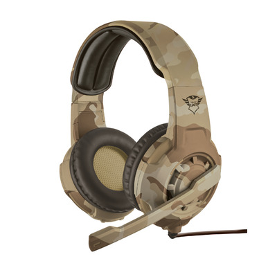 Trust GXT 310 Cammo - Gaming (PC + PS4 + Xbox One) - Desert Camouflage Headset