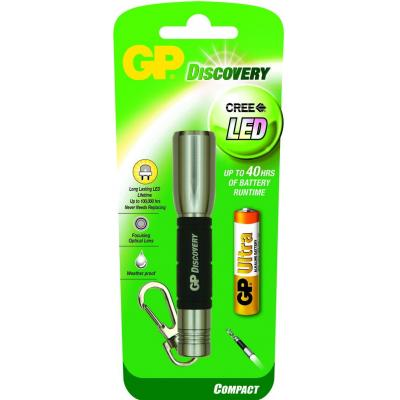 Gp batteries zaklantaarn: LED keychain incl. 1 x 15AU - Zwart, Roestvrijstaal