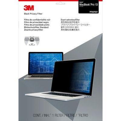 """3m schermfilter: Privacyfilter voor Apple MacBook Pro 13"""" (2016) - Zwart, Doorschijnend"""