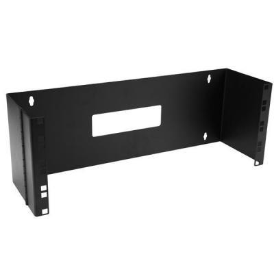 Startech.com rack: 4U 19 inch Scharnierende Beugel voor Wandmontage Patchpanelen - Zwart