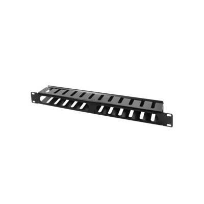 "Logilink : 48.26 cm (19 "") Covered Cable Organizer 1U, black - Zwart"