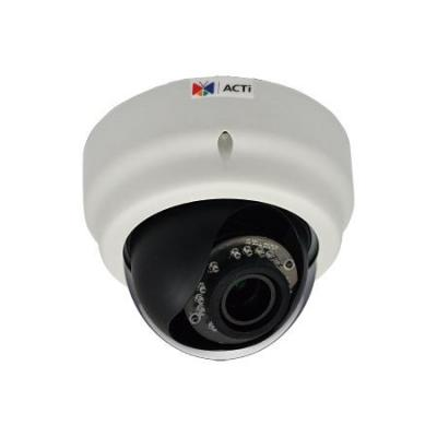 "Acti beveiligingscamera: Dome, 3MP, CMOS 1/3"", WDR, H.264, PoE, 1x RJ-45, 538g - Zwart, Wit"