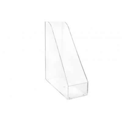 Maul tijdschrift houder: 26.3 x 9.8 x 30.7 cm - Transparant