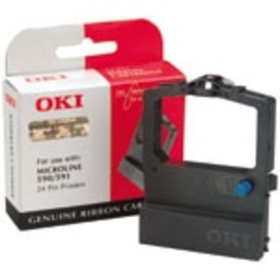 OKI printerlint: Inktlintcassette voor ML590/591, Zwart