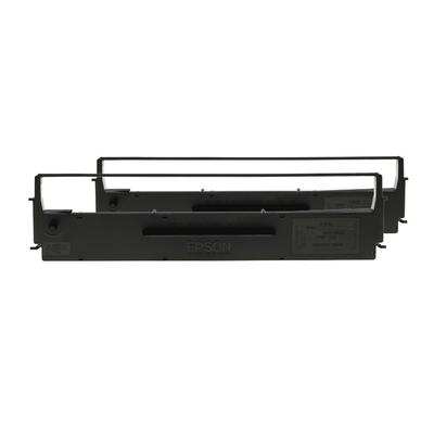 Epson SIDM Black Ribbon Cartridge for LQ-350/300 /300 II, Dualpack (C13S015646) Printerlint - Zwart