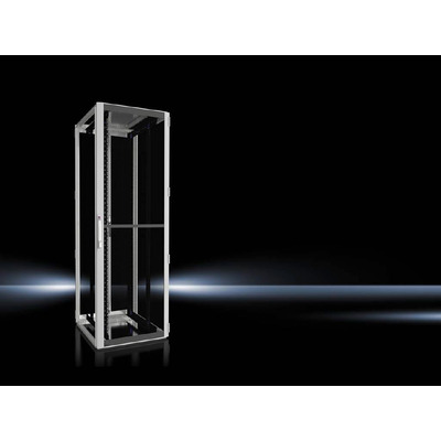 """Rittal Network/server enclosure TS IT with vented door, with 482.6 mm (19"""") mounting angles Rack - Zwart,Grijs"""