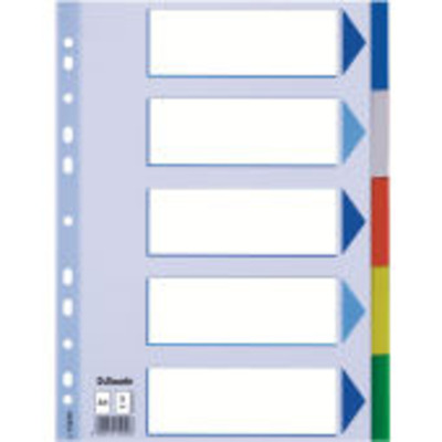 Esselte indextab: Multicoloured Polypropylene Dividers - Multi kleuren