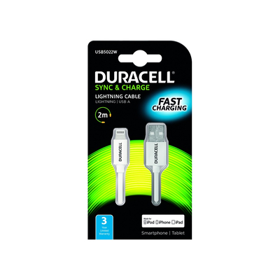 Duracell USB5022W Oplader - Wit