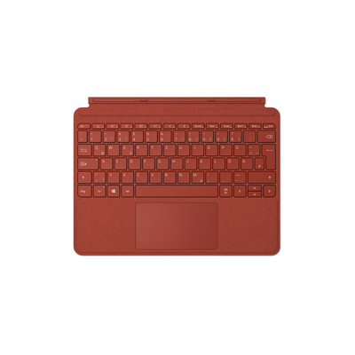 Microsoft Surface Go Type Cover - QWERTZ Mobile device keyboard - Rood