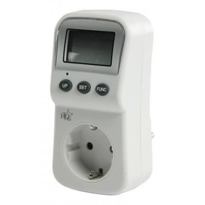 Hq energiekosten meter: 16A, 3680W, 220 - 240V, 50Hz