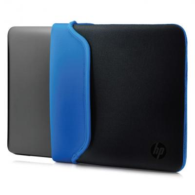 "Hp laptoptas: 14"" Neoprene Sleeve Black/Blue - Zwart, Blauw"