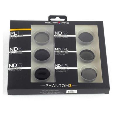 Polar pro filters camera filter: DJI Phantom 3 Professional Filter 6-Pack - Zwart