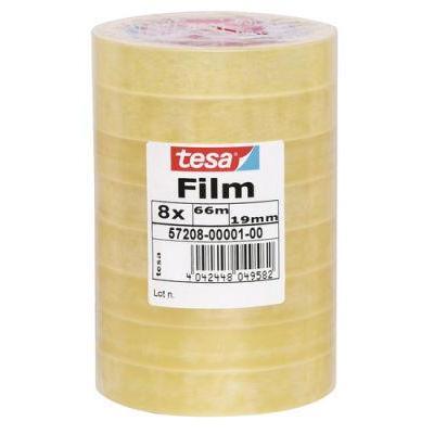 Tesa plakband: 57208-00001-00,film standard, 66 m x 19 mm, 8 rolls - Transparant