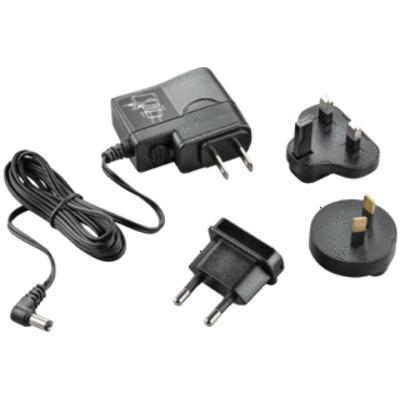 POLY AC Adapter Stekker-adapter - Zwart