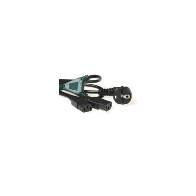 Intronics electriciteitssnoer: 230V splitskabel schuko male - 2 x C13