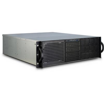 Inter-Tech 3U-30248 Behuizing - Zwart, Roestvrijstaal