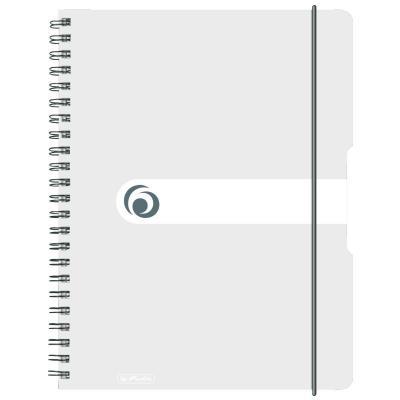 Herlitz spiral pad, A4 to go 80 sheets , 80 g Schrijfblok - Transparant