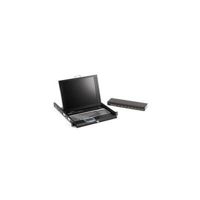 "Black Box 43.18 cm (17"") , 8-Port KVM Switch Module, USB, PS/2 Rack console - Zwart"
