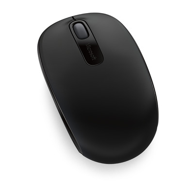 Microsoft computermuis: Wireless Mobile Mouse 1850 - Zwart