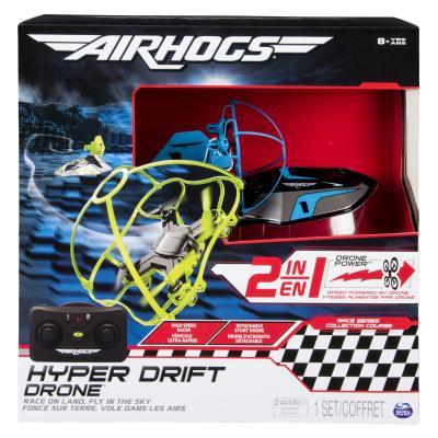 Spin master drones: Air Hogs Hyper Drift Drone (2 in 1) - Zwart, Blauw