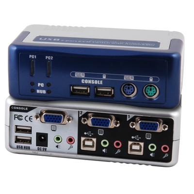 EFB Elektronik EB942 KVM switch - Blauw,Zilver