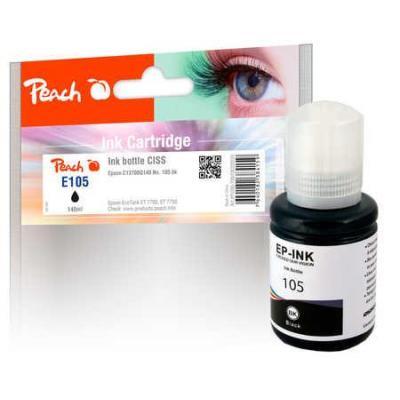 Peach Ink Bottle pigm. black compatible with Epson C13T00Q140