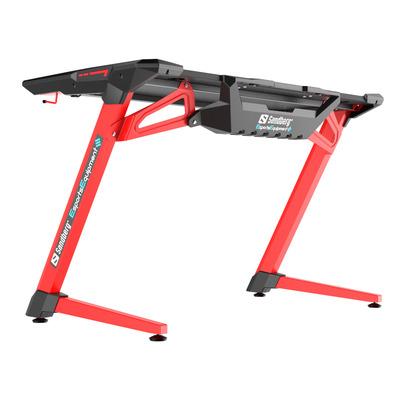 Sandberg Fighter Gaming Desk 2, Red Bureau - Zwart, Rood