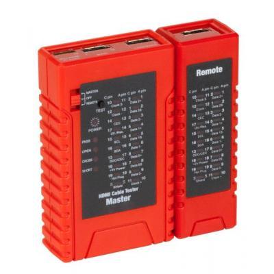 EFB Elektronik HDMI Cable Tester for HDMI Type A and Type C Netwerkkabel tester - Zwart, Oranje