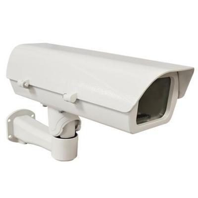 Acti beveiligingscamera bevestiging & behuizing: Housing, 170.9x461.7x256.7mm, Aluminium, White - Wit