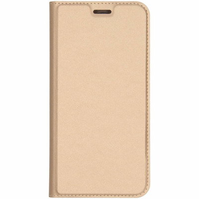 Slim Softcase Booktype Samsung Galaxy J6 Plus - Goud / Gold Mobile phone case