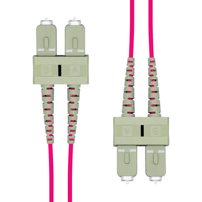 ProXtend SC-SC UPC OM4 Duplex MM Fiber Cable 0.5M Fiber optic kabel - Violet