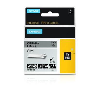 Dymo labelprinter tape: Wit op zwart, 24mm x 5.5m