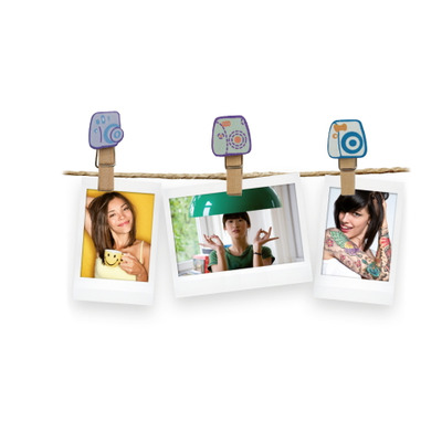 Fujifilm paperclip: Instax Design Clips - Multi kleuren