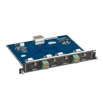 Black Box Modular Video Matrix Switcher Output Card - 4K, 4x HDMI F, 4x 3-pin Analog Audio, 0 - 50°C, .....