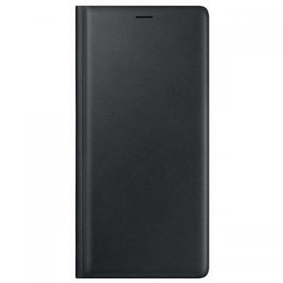 Samsung mobile phone case: Leren Wallet Cover Zwart