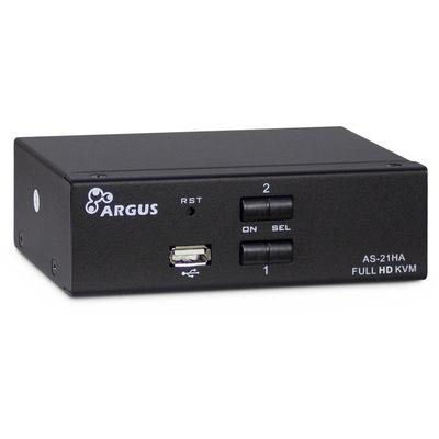 Inter-Tech AS-21HA HDMI KVM switch - Zwart