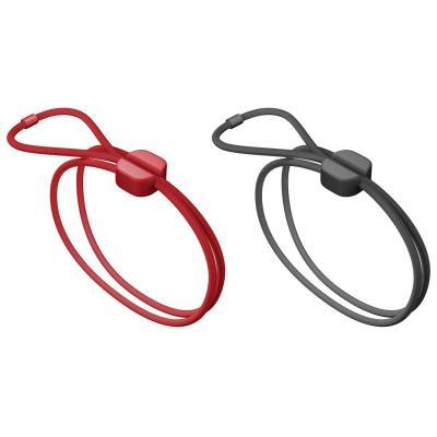 Bluelounge kabelklem: Pixi Large - Zwart, Rood