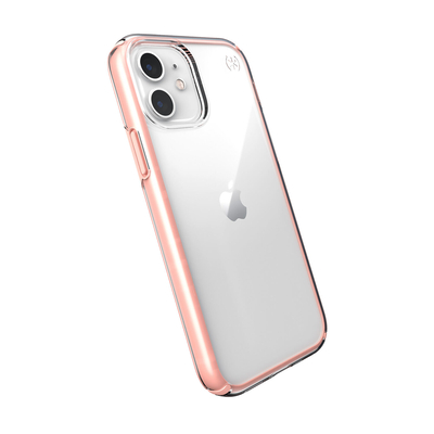 Speck Presidio Perfect-Clear with Impact Geometry Mobile phone case - Roze,Roze,Transparant