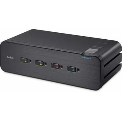 Linksys F1DN104Q KVM switch - Zwart