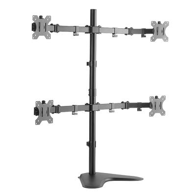 """LogiLink Quad monitor desk stand, tilt -45°/+45°, swivel -90°/+90°, rotation -180°/+180°, 13–32"""", ....."""