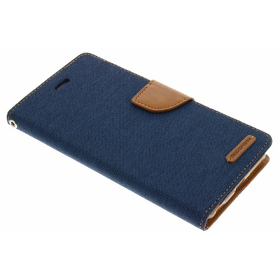 Canvas Diary Booktype iPhone 6(s) Plus - Blauw Mobile phone case
