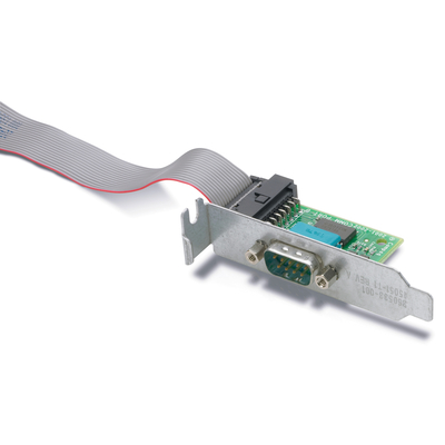 HP 1xSerial, 1 kg Interfaceadapter - Zwart, Zilver