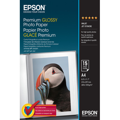 Epson Premium Glossy Photo Paper - A4 - 15 Vellen Fotopapier