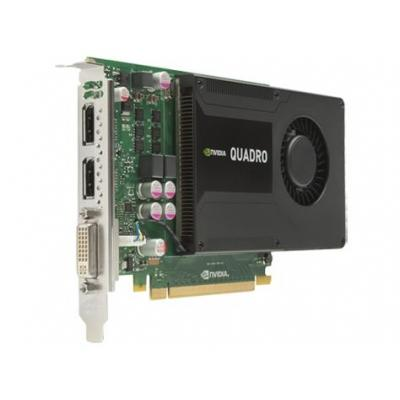 Hp videokaart: NVIDIA Quadro K2000 2GB DL-DVI+2xDP Graphics Card